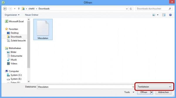 Dateityp Textdatei