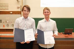 Die Zerweck-Preisträger Dominik Thiel (l.) und Florian Hetzer (r.) (Foto: Giulia Iannicelli)